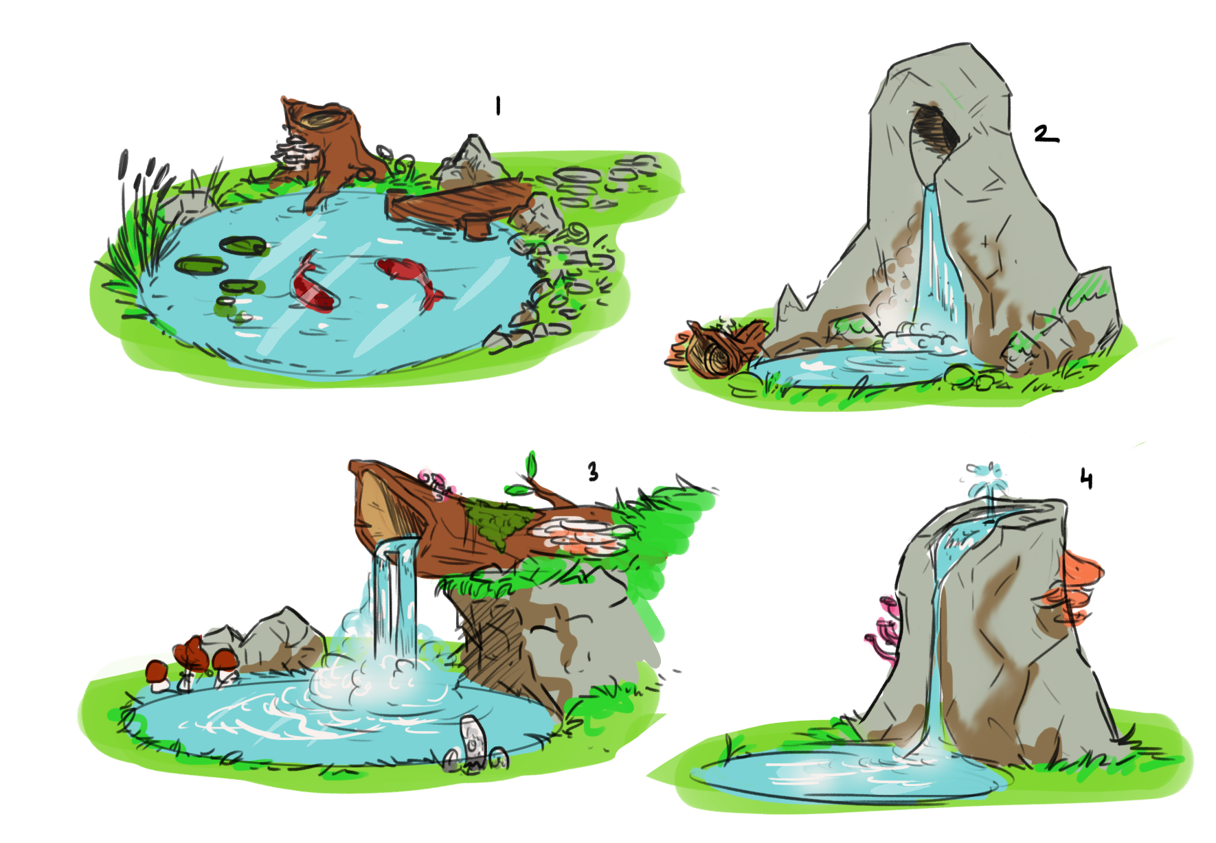 Early concept   We wanted a waterfall to make the world appear more magical