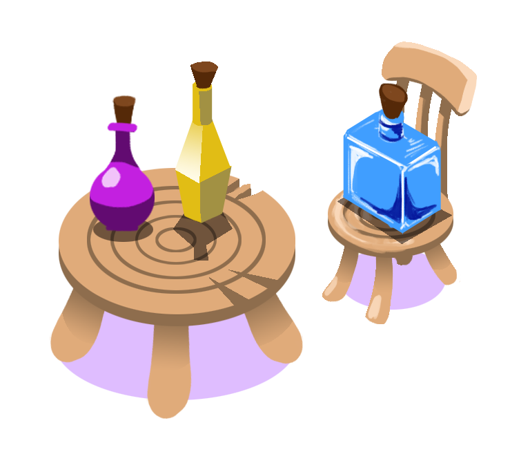 Finished asset   Table, chair and additional potions