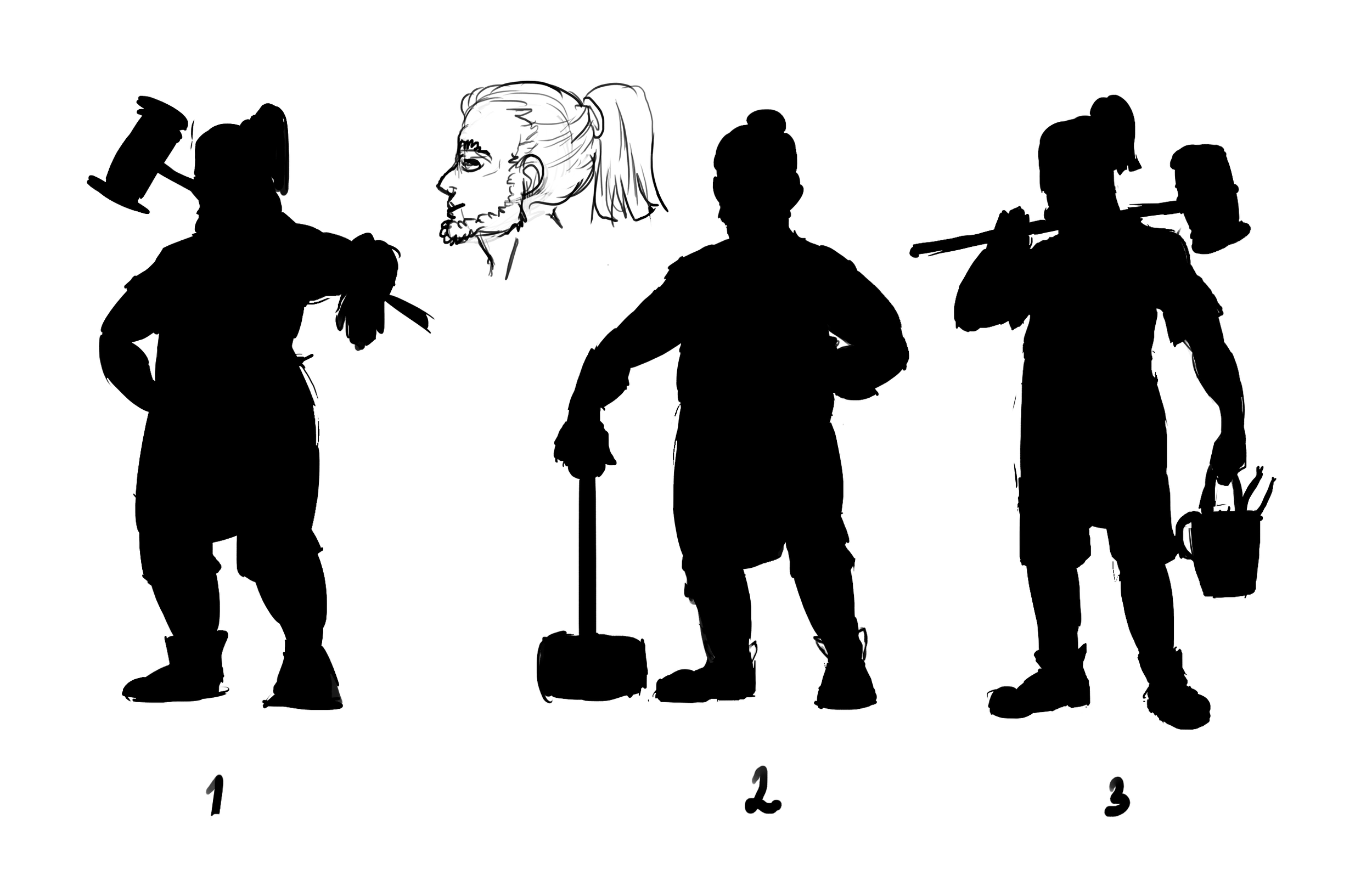 Early concept   Working on silhouettes for Diego