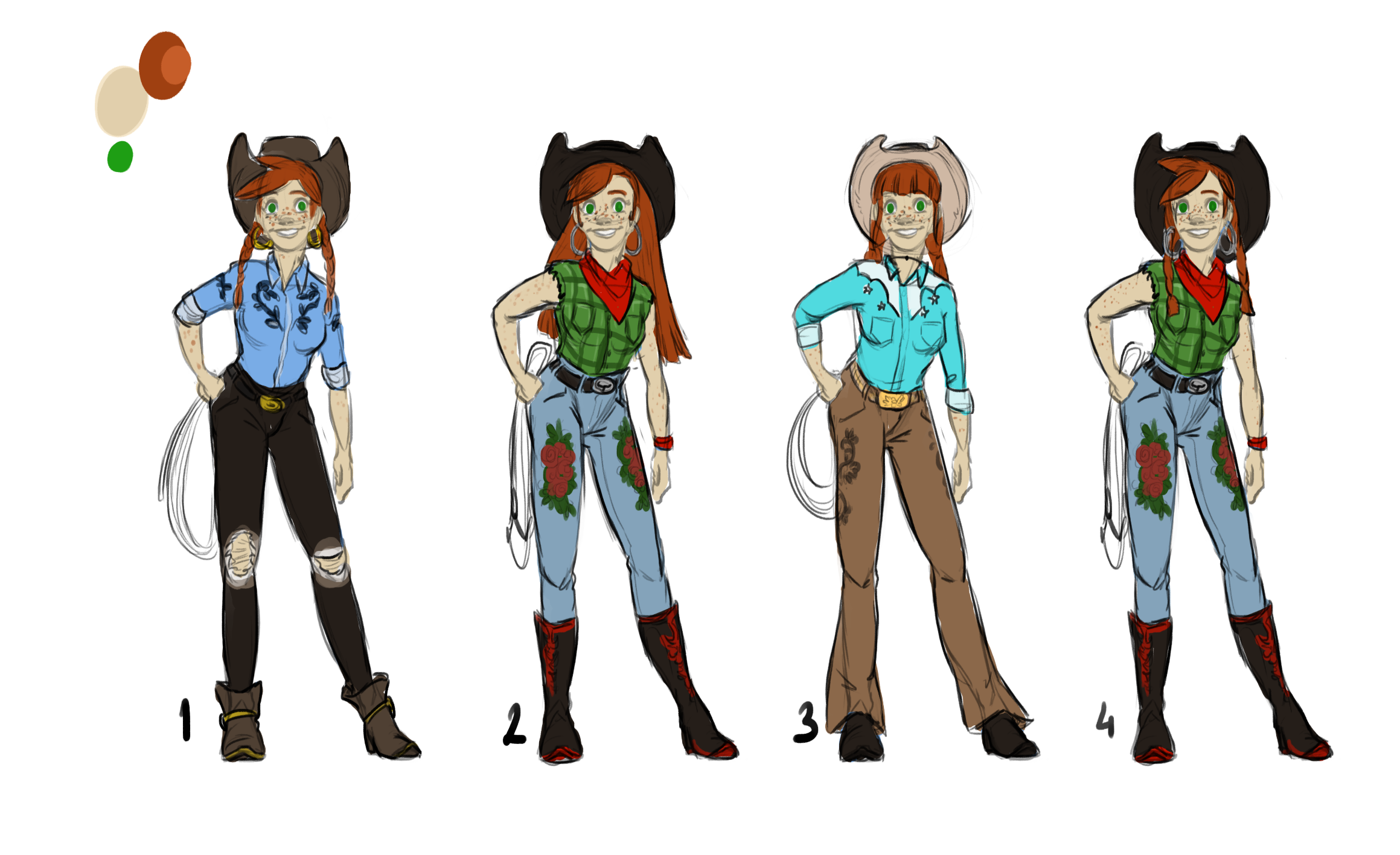 Stella Concept   Figuring out the clothes design and colours