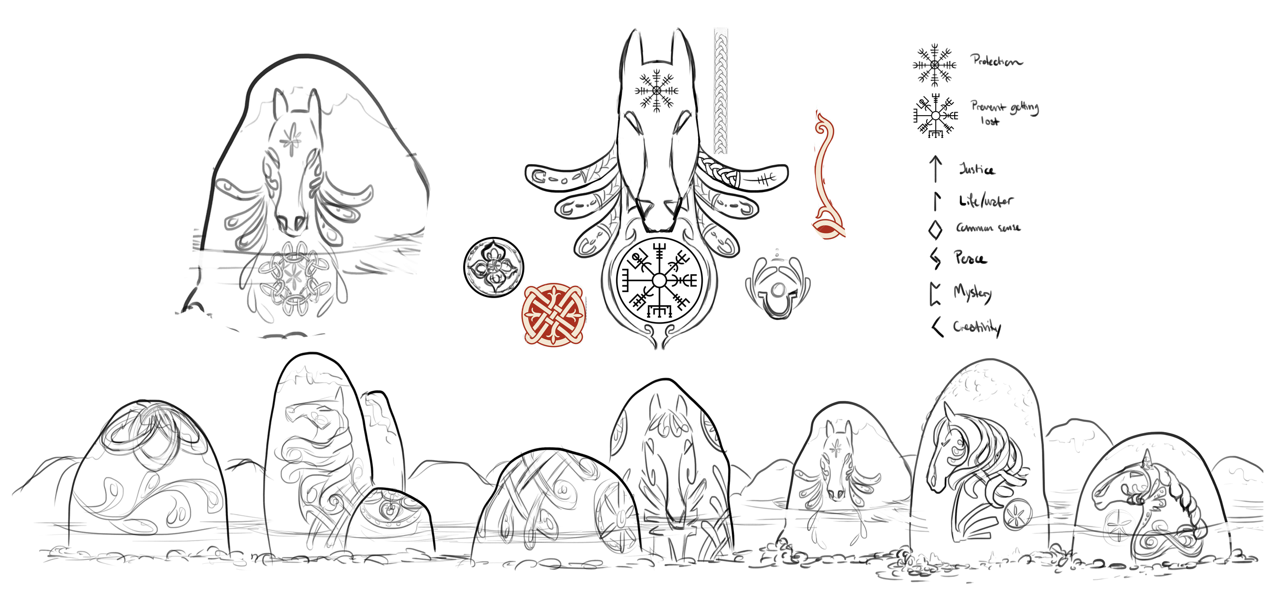 Early concept   The stones that would lead you to the new area with Norse inspired engravings and enchantments