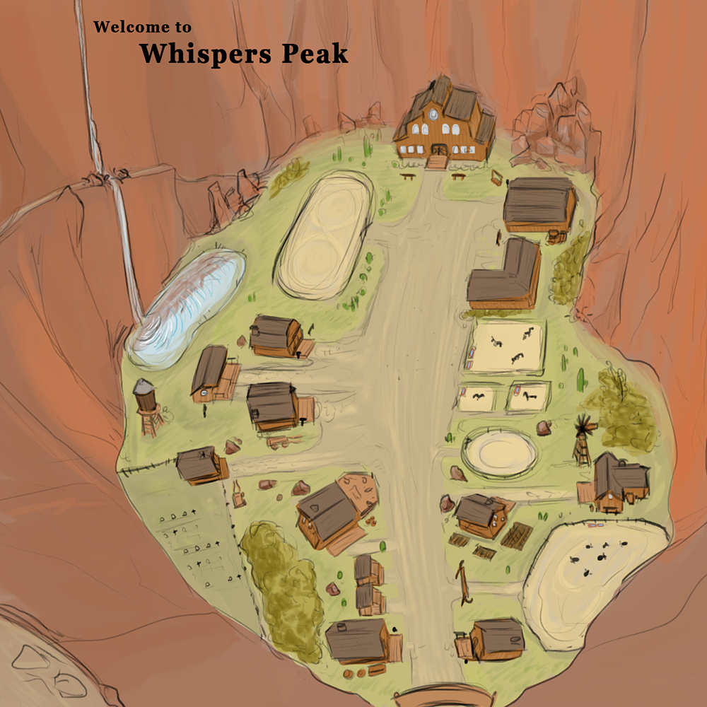 Early concept   A quick overview of the village of Whispers Peak