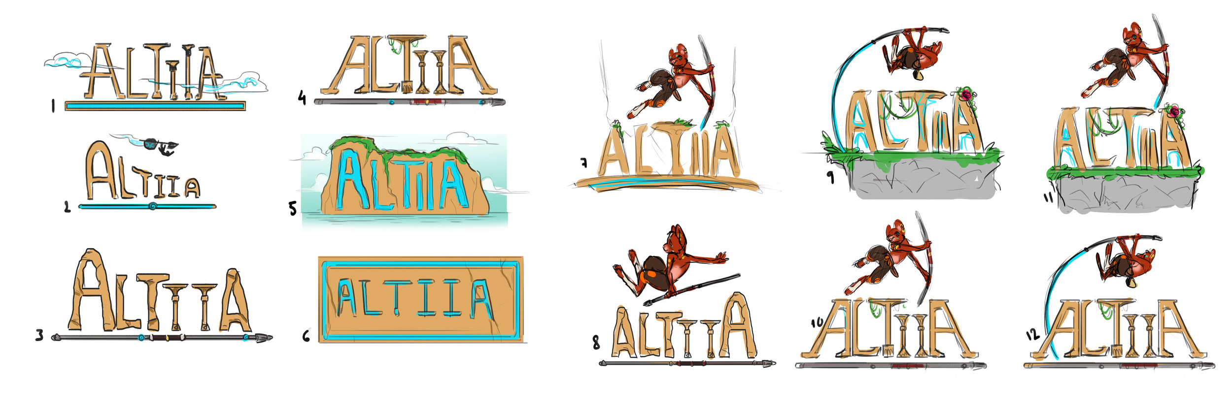 Early concept   My iteration process to get the logo done