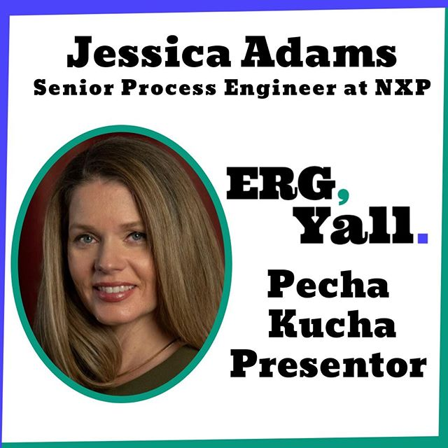 We are thrilled that Jessica Adams will be joining our Pecha Kucha line-up on Saturday. She will be sharing her experience as an ERG leader at NXP Semiconductors. Be sure to register today: http://bit.ly/2lPJOpA  #womenintech #diversityintech #inclusiveworkplaces