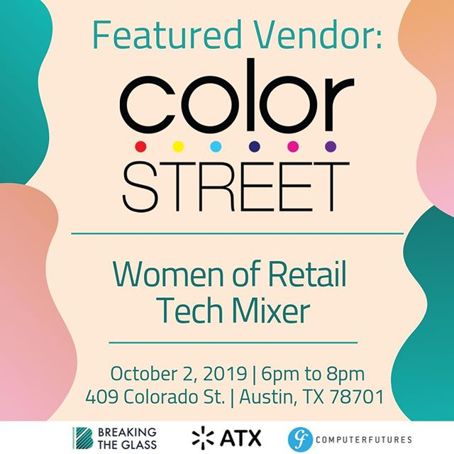 """Breaking News! @becolorstreet will be at our Women on Retail Tech on October 2nd! Be sure to register to attend: http://bit.ly/2kAduqy  Color Street is a creative beauty brand with limitless possibilities. We believe in supporting and empowering a person's spirit & individuality. We celebrate entrepreneurs and inspire them to pave the road to personal success.  Color Street—inspired by New York's """"City That Never Sleeps"""" nonstop energy and wildly colorful fusion of cultures—offers a vast array of colors and nail art designs, direct to Independent Stylists and ultimately to clients.  #womenintech #inclusiveworkplaces #empower"""