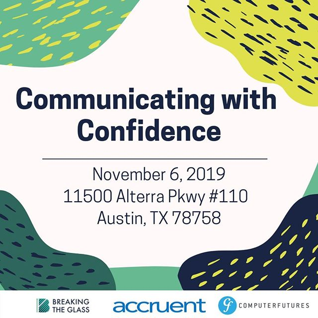 """Our signature community panel events are back! On November 6th join us at Accruent for a panel discussion on """"Communicating with Confidence"""". Technical leaders will share their experience and advice for confidence leading & connecting with their teams from 1 person to 100 persons! Grab a ticket in our bio!  #womenintech #diversityintech #leadershipintech"""