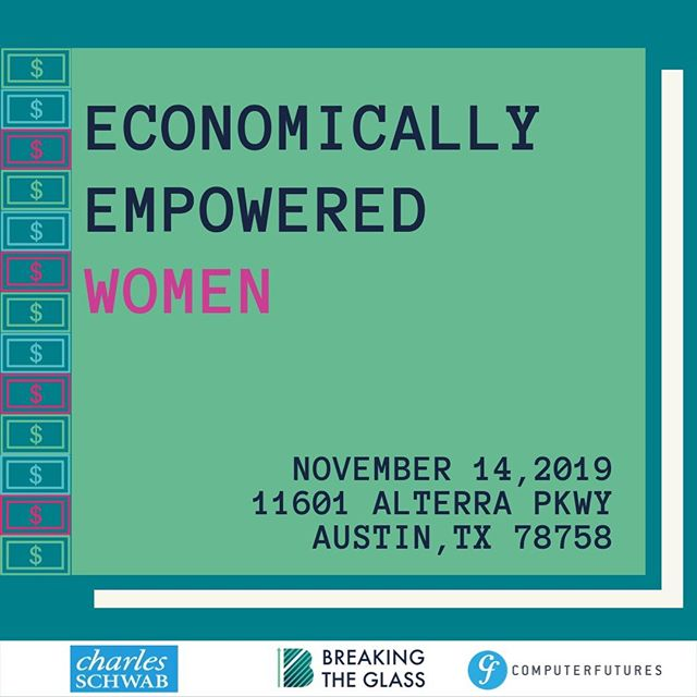 """November is going to be an exciting month! We have two events on our calendar. Be sure to join us at Charles Schwab for a keynote event on """"Economically Empowered Women"""" on November 14th! Grab a ticket in our bio!"""