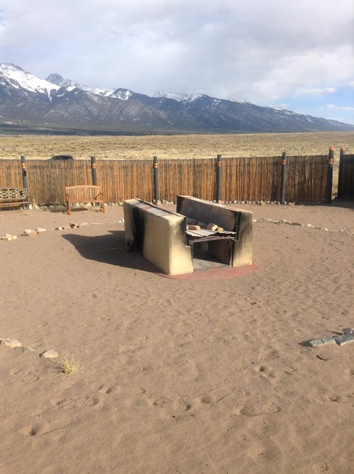 The public open air pyre in Crestone, Colorado. Photo by Angela Lutzenberger