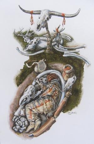 Gravettian Shaman burial