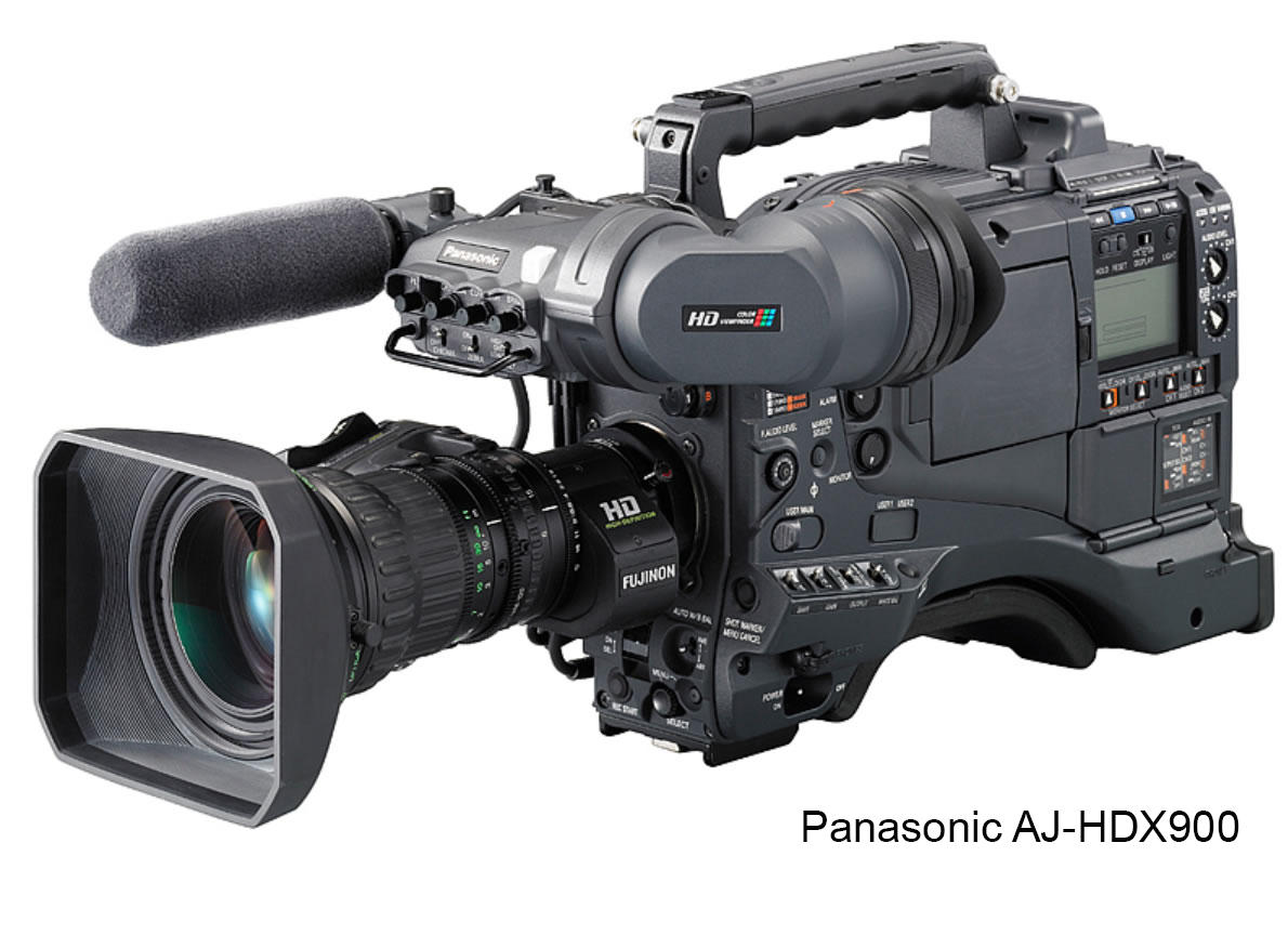 """Product Highlights:  - Tape-Based DVCPRO HD - Dynamic Range Stretching - 1080i - 720p - CineGamma   Description:  The  Panasonic AJ-HDX900  is a professional tape-based DVCPRO HD camera designed for a wide variety of applications, including news, documentary, and dramatic television/cinema. The 1-megapixel 3CCD system provides pristine images while performing exceptionally well in low-light situations. This professional camcorder has the ability to capture both 1080i and 720p, which means that no project is out of reach.   Technical Specifications:   Signal System1080/60i, 30p, 24p 1080/50i, 25p 720/60p, 30p, 24p 720/50p, 25p<Image Device2/3"""" 3CCDLensNoneSignal-to-Noise Ratio54dBHorizontal Resolution700 TV LinesSensitivityF10 at 2000 luxMinimum Illumination0.032 Lux @ 36dB, 20dB, 6dBVertical Smear Not Specified By Manufacturer Built-in FiltersCC: Cross, 3200K, 4300K, 6300K ND: Clear, 1/4, 1/16, 1/64LCD MonitorNoViewfinder20-Pin, B/W, NTSC/PAL Switchable Scan MatchingYes Different Ranges for Different Record ModesMemory Card SlotSD Memory Cards for Scene-File SharingShutter Speed Range1/60 (50Hz), 1/100 (59.94Hz), 1/120, 1/250, 1/500, 1/1000, 1/2000 sec and HALFGain Selection0-18dB RangeVTRTape Format Not Applicable Tape Speed60i: 67.640 mm/s 50i: 67.708 mm/sSignal-to-Noise Ratio Not Specified By Manufacturer Maximum Recording Time33 minAudioAudio Dynamic Range85dBAudio Signal Format16 bit/48kHz Four ChannelsAudio Frequency Response20Hz to 20kHzSignal to Noise Ratio Not Specified By Manufacturer GeneralInput and Output ConnectorsComposite: BNC (x1 Output) Component: D4 Terminal (x1 Output) SDI/HD-SDI: BNC (x1 Output) Timecode: BNC (x1 Input, x1 Output) FireWire: 6-Pin DC Power: XLR (x1 Input, x1 Output) Remote: 10-Pin Lens: 12-Pin EVF: 20-Pin USB 2.0: 4-Pin (Type-B) Microphone: XLRx2 (x1 Input) Analog Audio: XLRx2 (x1 Input) Line Out: Pin Jack Headphone: 3.5mm Stereo Mini Jack Wireless: 25pin D-SubPower Requirements12VDC (11 - 17V)Power Consumption36WOperating Temper"""