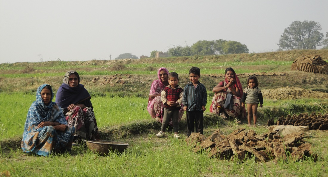 women and children from a rural village just outside Allahabad