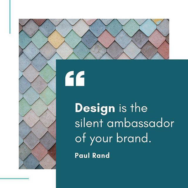 What is your business and/or personal brand saying about you? 🤔 #DesignMinded