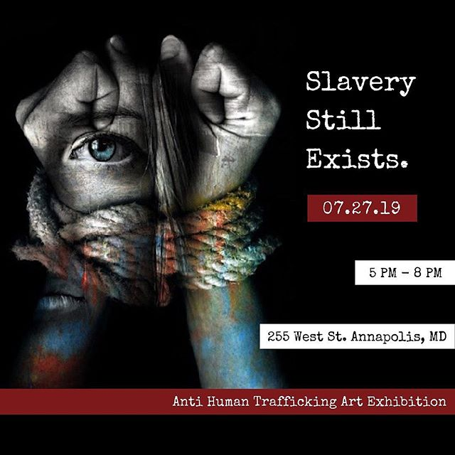 Our good friend @thealisajane is hosting an art exhibition this Saturday, 7.27.19 from 5-8pm (@slaverystillexiststoday) to spread awareness about the reality of modern slavery in today's society.⠀ ⠀ Art will be available for purchase and a portion of the proceeds will be donated to Justice For Youth. Come support the local artists in Annapolis, MD! ⠀ .⠀ .⠀ #slaverystillexiststoday #slaverystillexists #annapolis #maryland #artist #art #antihumantrafficking #design #humantraffickingawareness #annapolisart #artinannapolis #artexhibition #artshow #jointhemovement #makeadifference #downtownhope⠀ ⠀ #Reposted with @plannthat