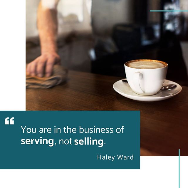 Surprise! Business is not about {selling}, it's about {serving}. You are in business because you are serving a particular target market/client base/niche by solving a problem. ⠀ ⠀ ☕ Coffee shops provide a solution to people's energy deficiencies and give a place for casual conversation and productivity.⠀  ✨ Hair salons provide the service of done-for-you beauty helping people walk away feeling better than they came in.⠀  🛠 Home improvement companies provide a solution to a leaky roof or transform an old kitchen to a magazine-inspired, white wonderland.⠀ ⠀ These are just a few of many examples! When you change your mindset from {making a profit} to {serving people}, your business thrives in a new way. You value each customer, not just their dollars.⠀ ⠀ #businessminded #peopleoverprofit #smallbusiness #businessquotes #businesswisdom #businesstips #digitalmarketingagency #qotd #entrepreneur #femtrepreneurs #creativebusinessowner #servepeople #whatsyourwhy #thinkbigger