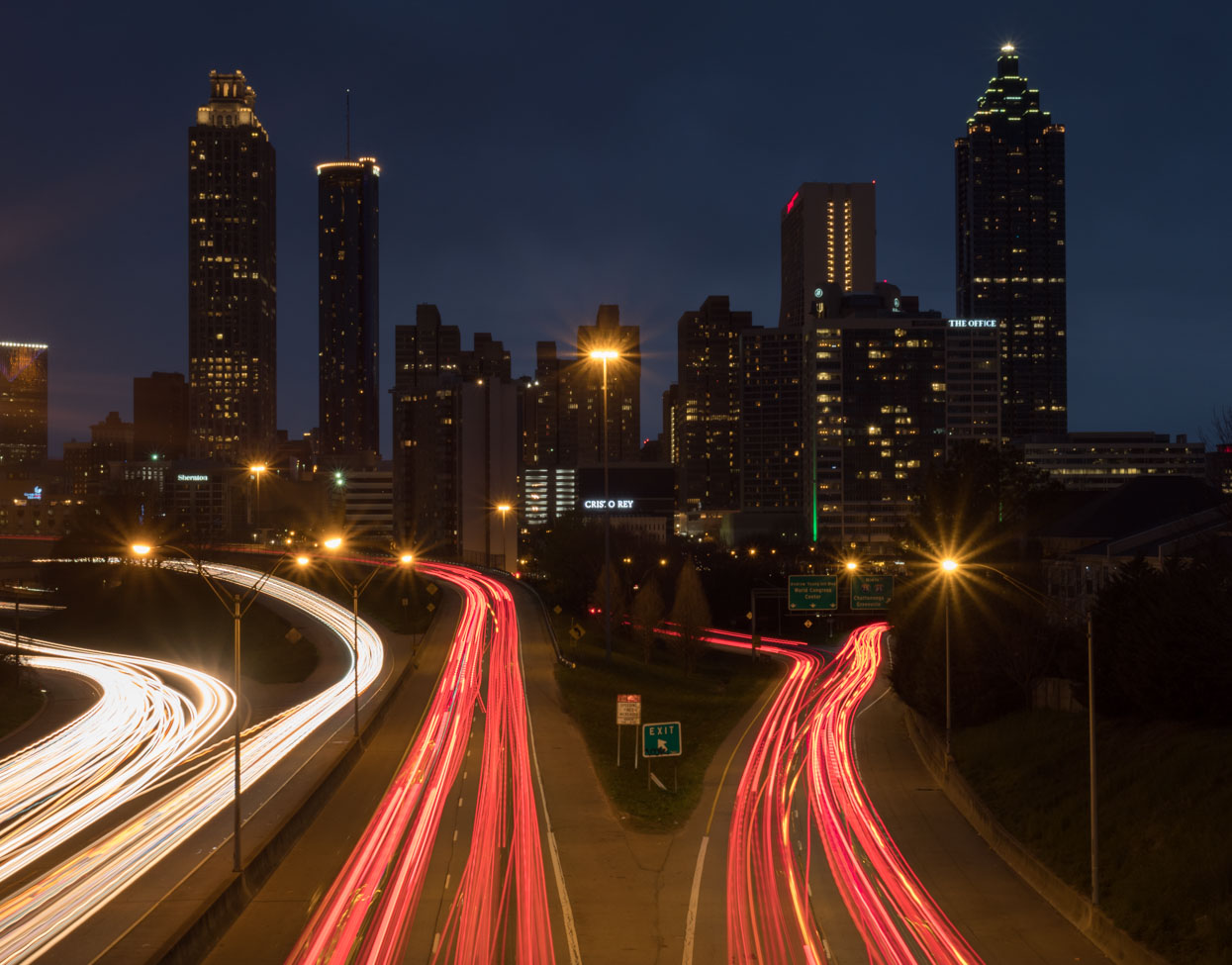 Atlanta Skyline from Jackson Street Bridge