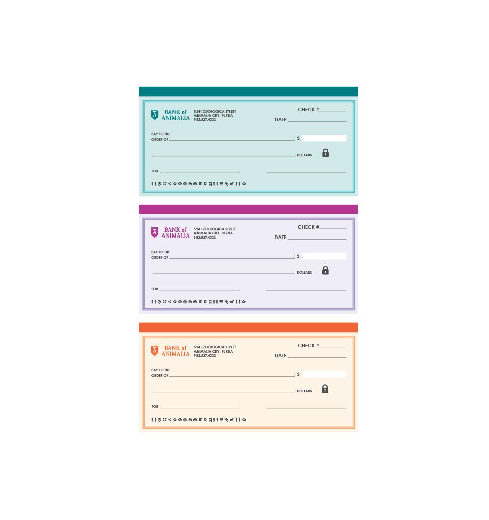 Printable Checkbook