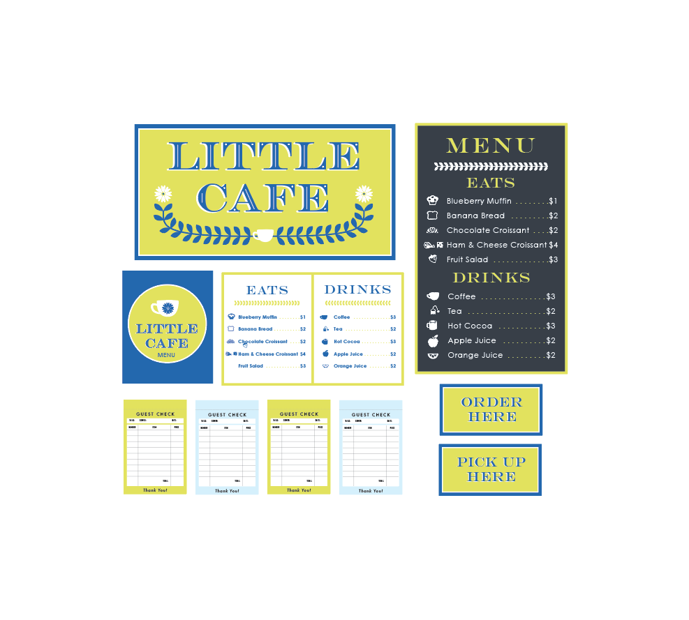 Little Cafe Play Set