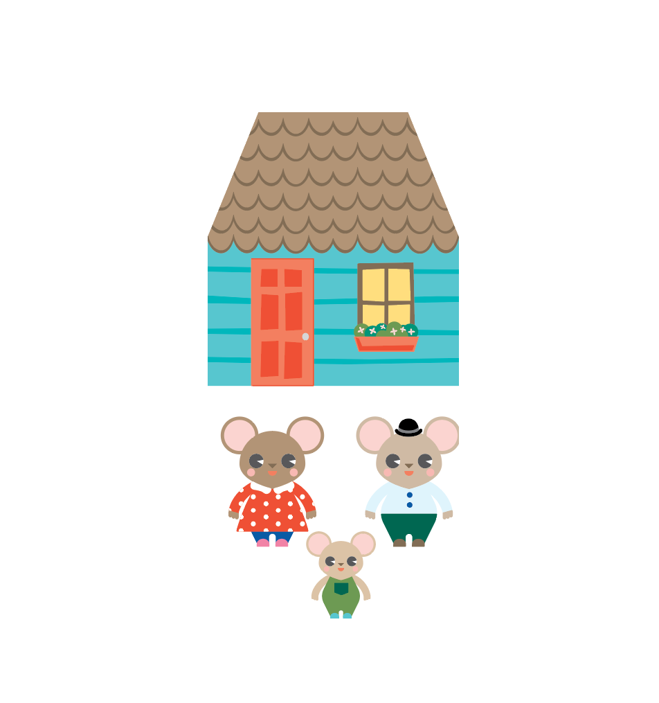 Mouse House 3D Playset Printable