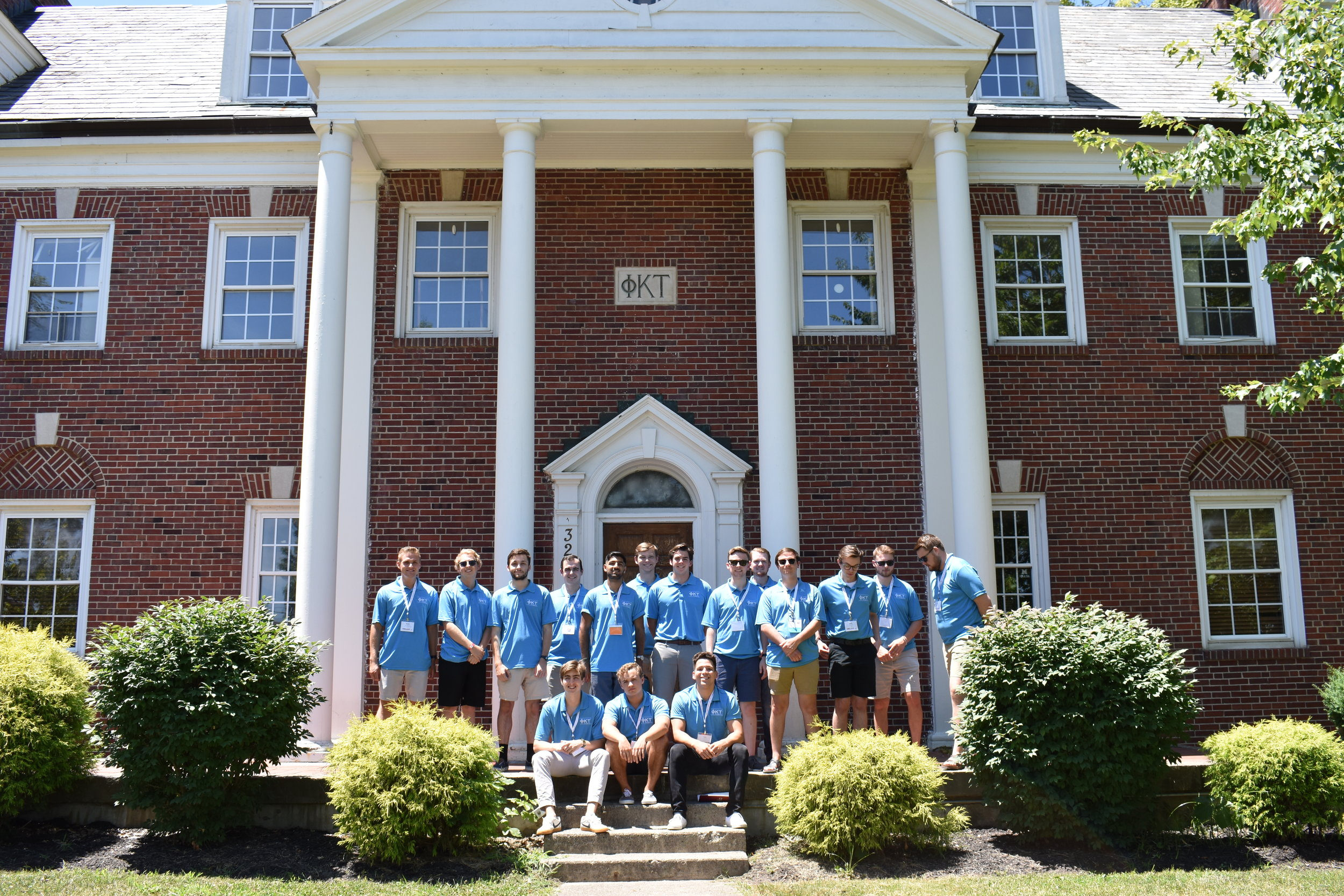 Undergraduates visiting the Alpha house