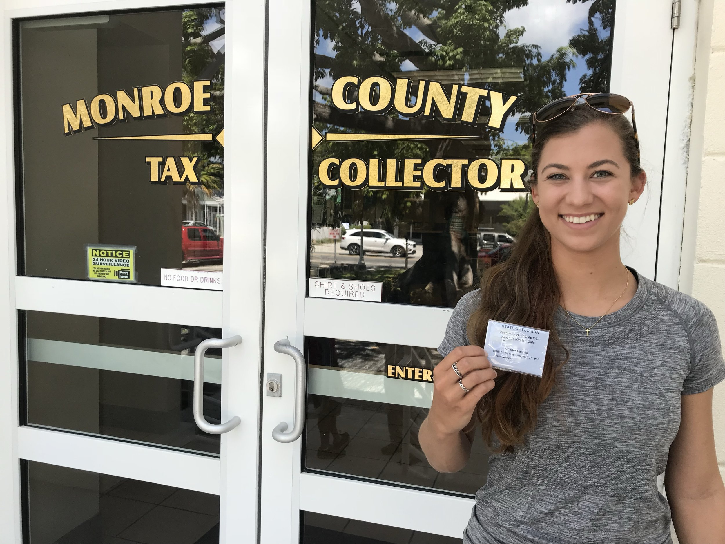 Amanda at the Monroe Country Tax Office doing her due diligence!