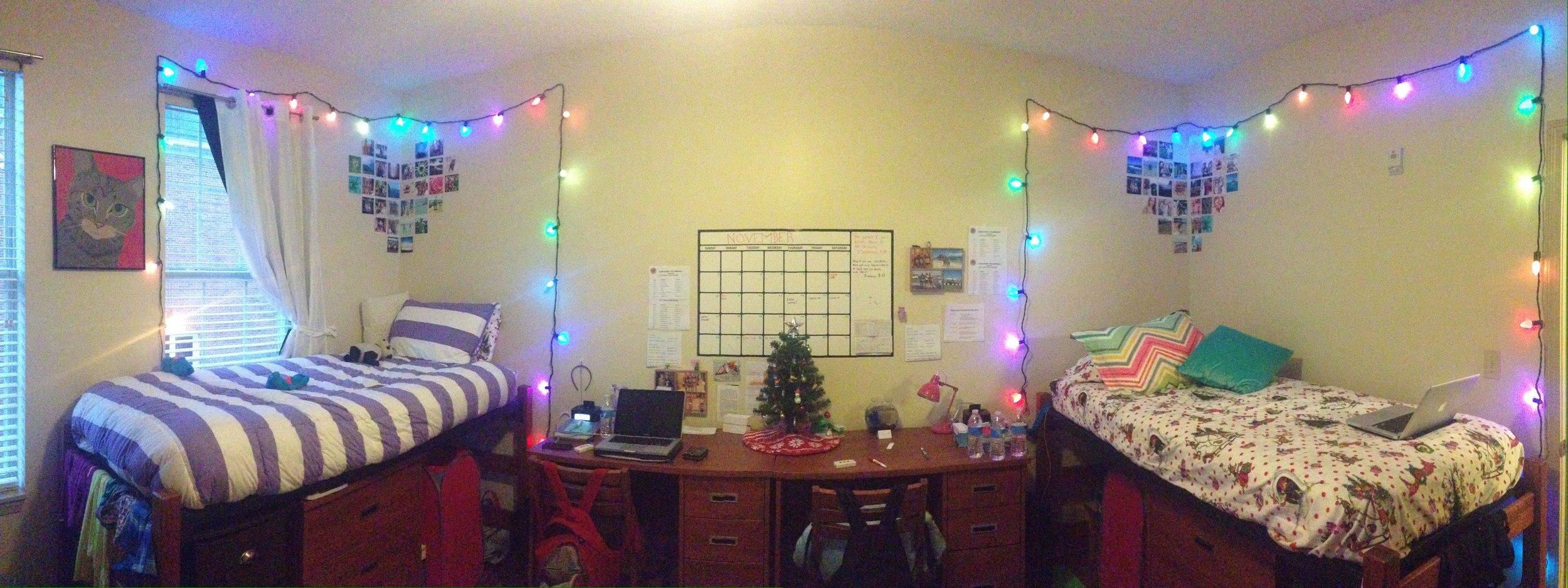 Our freshmen year dorm room