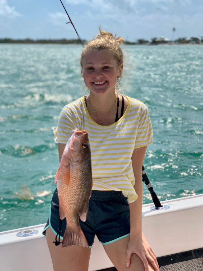 Erika with her mangrove snapper!