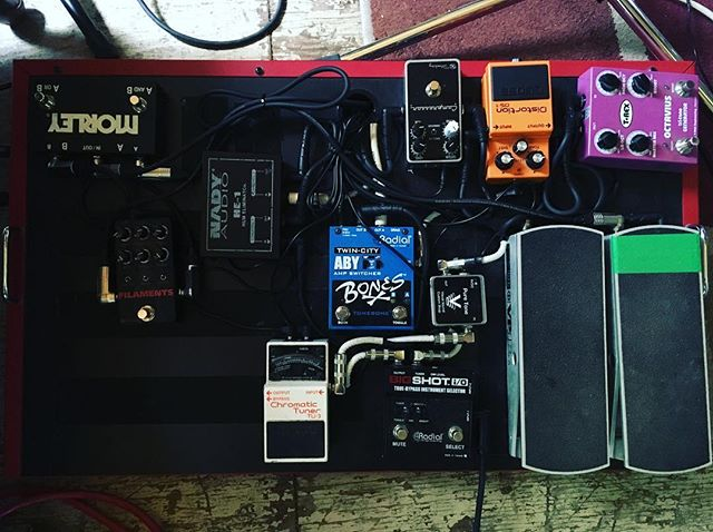 Version 5.0, it never ends  #pedalboard #keeleyelectronics #radialengineering