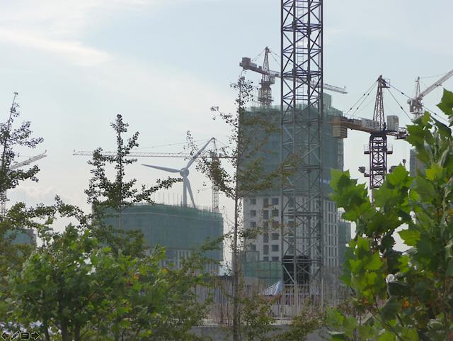 Tianjin Ecocity under construction
