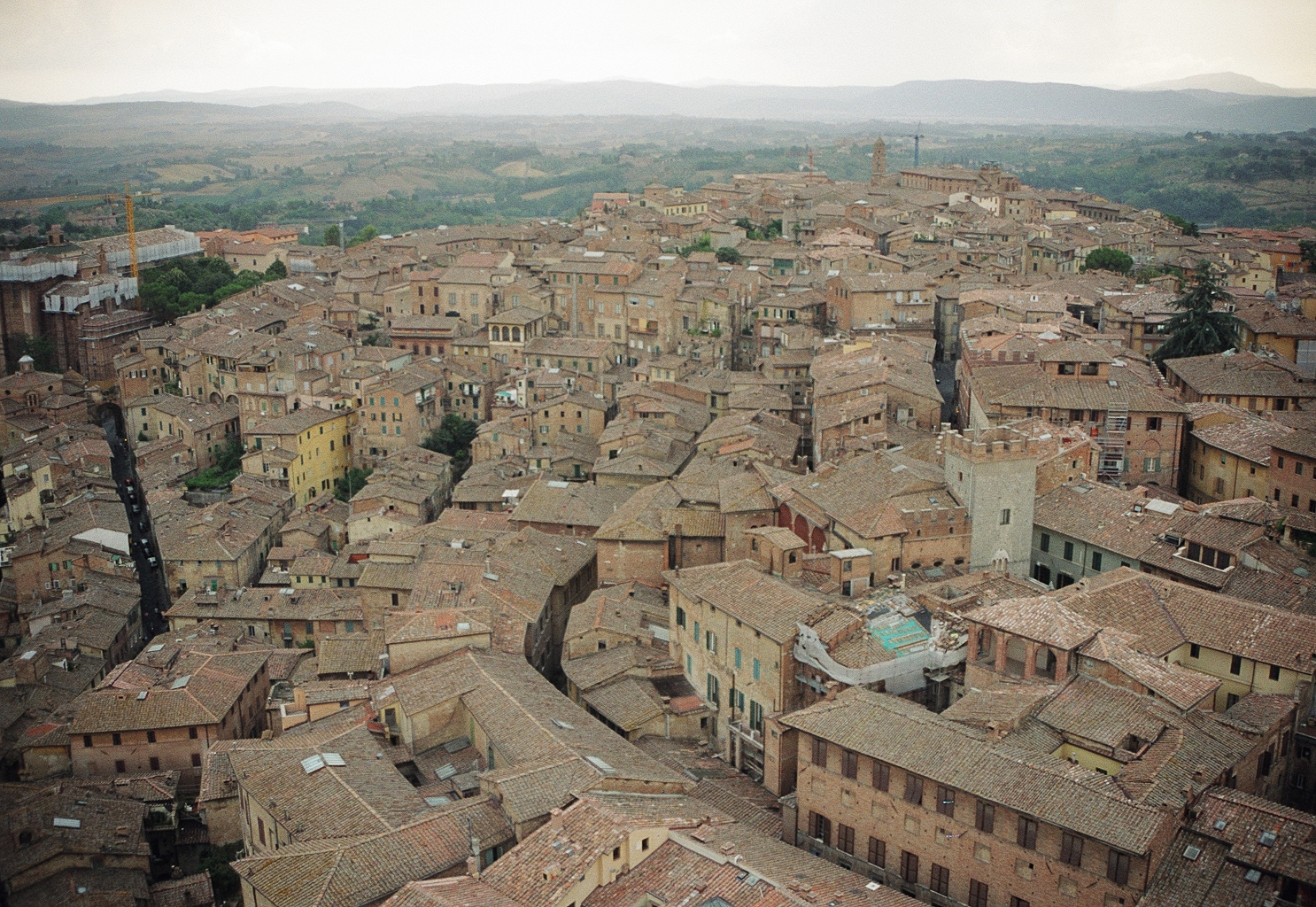 Traditional compact urbanism, Siena, Italy