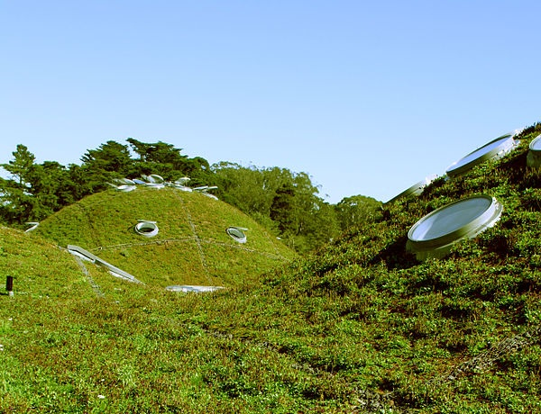 Green roof, California Academy of Sciences, San Francisco, California