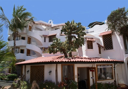Hotel Mainao, designed by owner Ignacio Sangolqui, in Puerto Ayora