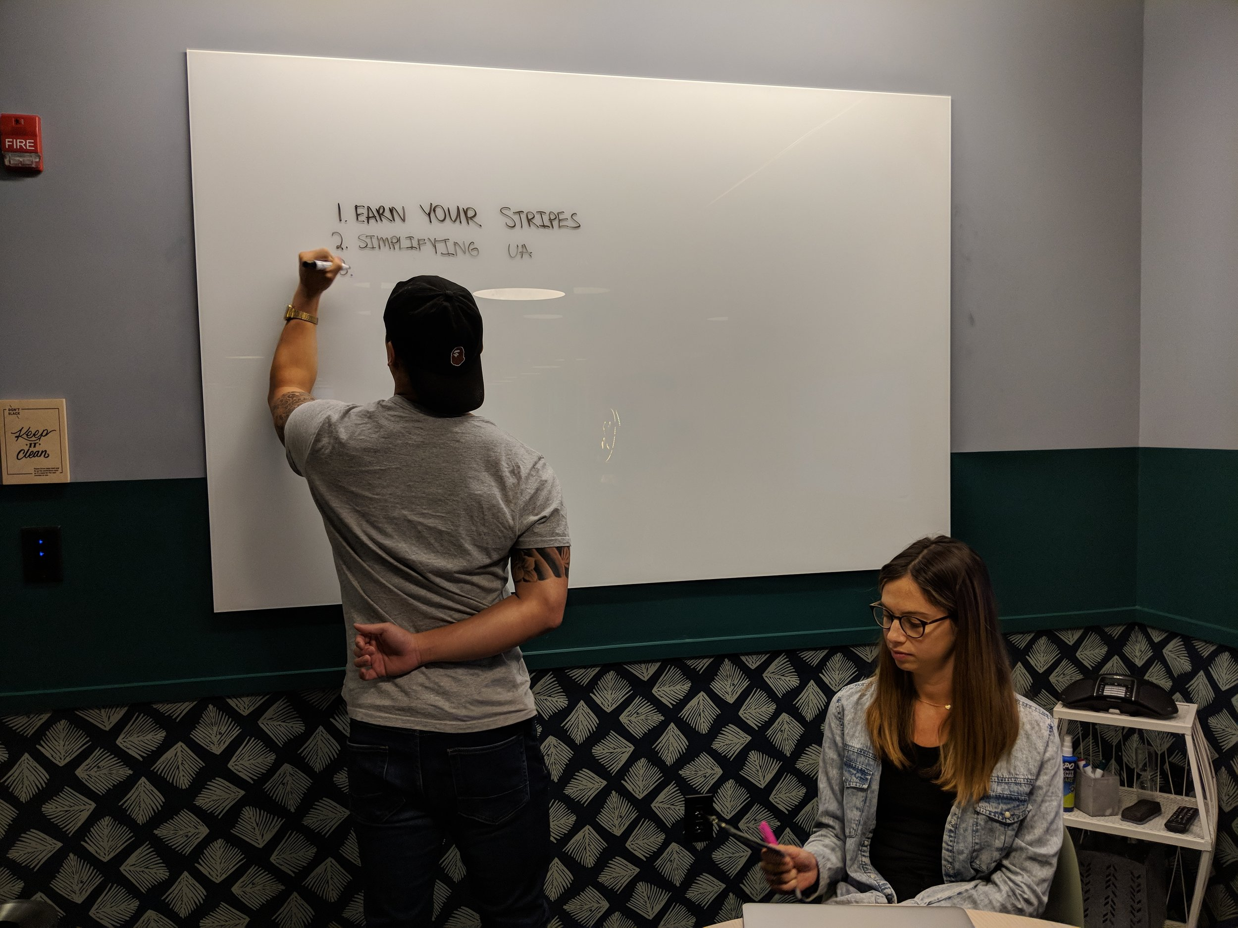 Honing our scope with a whiteboard exercise