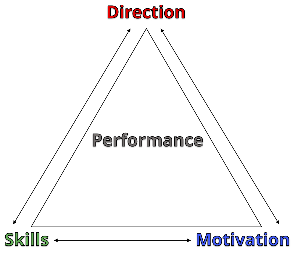 The essential mix of performance - When you consider that Performance is a combination of Skills, Motivation and Direction, each element is essential to high-performance. Developing aspirations into precise goals, sharing practical skills and enabling greater motivation is what we do best!