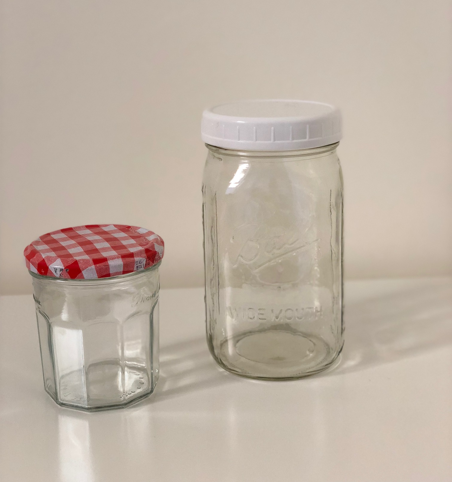 12. Glass Jars - Useful For: Keeping bulk dry goods safe from infestation, storing leftovers, holding your to-go beverage of choice.