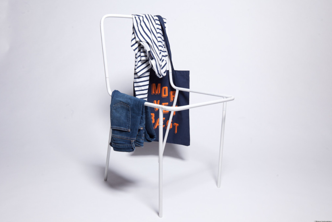 Thing Industries Sacrificial Chair - A cheeky take on that chair in your bedroom that you throw your clothes on. Now you can have one especially designed for the purpose.