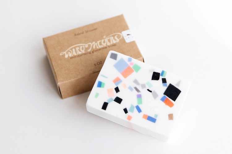 Wary Meyers Confetti Soap - Get your giftee in on the Memphis trend with this cool glycerin soap. Available in three distinct scents. Handmade in Maine.