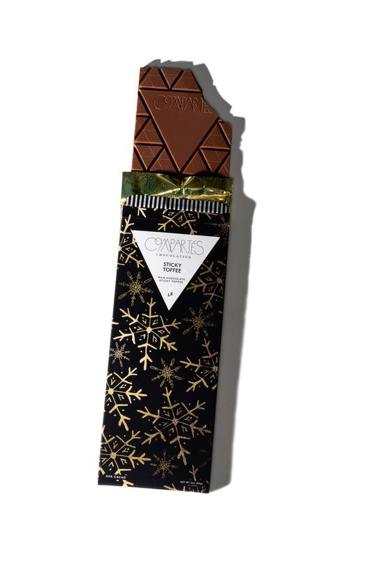 Compartes Chocolate Bar - These chocolate bars are handmade daily in the company's Los Angeles store. Available in eight intriguing holiday flavors.