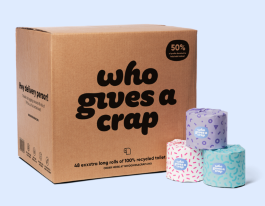 Who Gives A Crap Recycled Toilet Paper - I don't love the choice of brand name, but the idea is a good one. As a car-less New Yorker formerly reduced to hauling home TP by the 4-pack, this has been a game changer. Recycled toilet paper delivered to your door in quantities of 24 or 48 rolls.