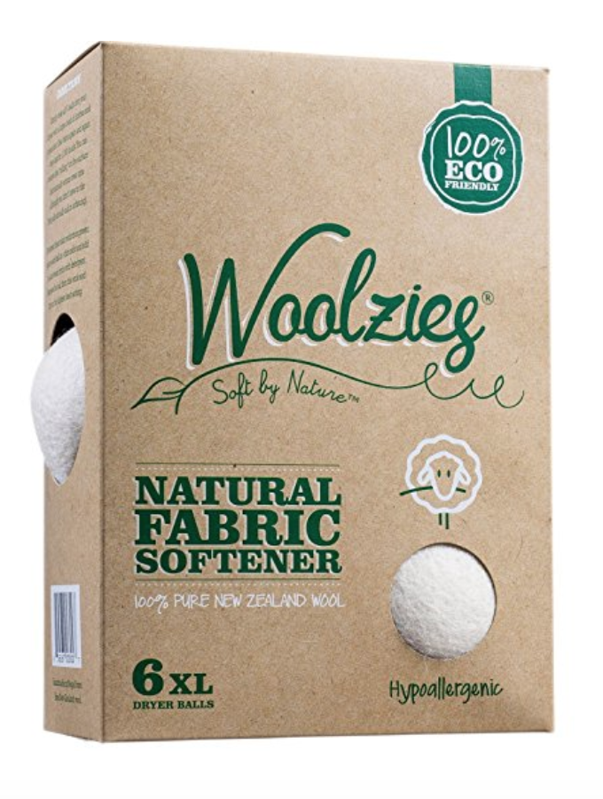Woolzies Wool Dryer Balls - I wasn't using dryer sheets or fabric softener before, but if you are, these nifty balls replace them. They also dramatically reduce drying time and puff up your down pillows and duvets.