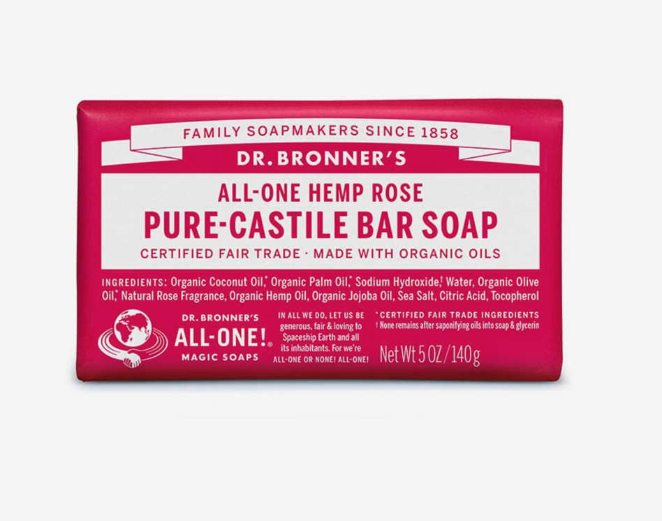 Dr. Bronner's Pure Castile Bar Soap - A classic and the packaging can't be beat. I'm officially switching over to bar soap which should have happened a long time ago. By the sink, in the shower, bar soap all the way. Bye bye plastic bottles of Mrs. Meyer's liquid soap.