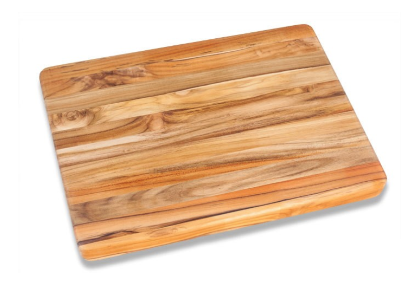 Teakhaus Cutting Board - A big, non-wobbly surface to do your food prep on goes a long way towards improving a rental kitchen. This is one you will use every day.