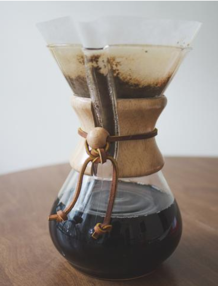 Chemex Coffee Dripper - I got this as a Christmas gift last year and my morning cup has been much improved. The beautiful design helps too (it's even part of MoMA's permanent collection).