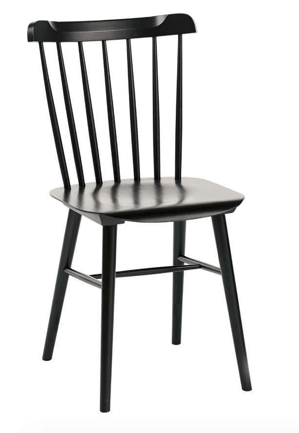 Salt Chair - I have two of these at my dining room table, but they could work as a desk or side chair as well. I love the modern take on Shaker furniture and the black adds some moodiness. You can always add more chairs to your collection as your needs change.