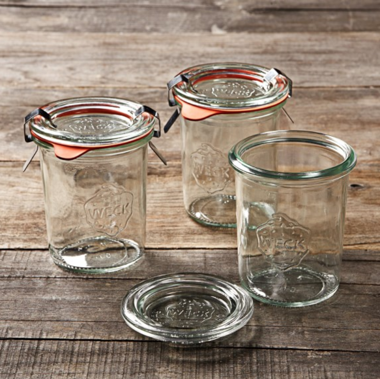 Weck Jars - These classic German jars are a good-looking option if you are tired of Mason. Perfect for storing bulk grains and beans.