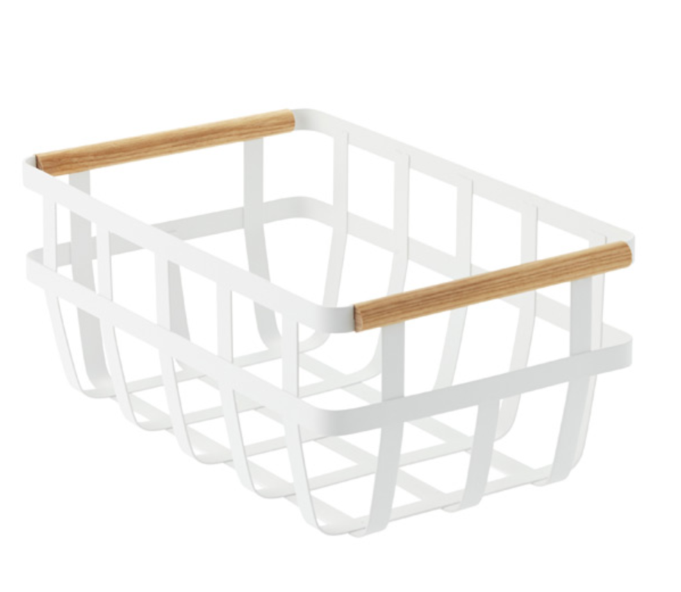 Yamazaki Home Tosca Basket - So so sleek. A few of these in a pantry would make easy work of corralling bags, cans, and boxes of staples.