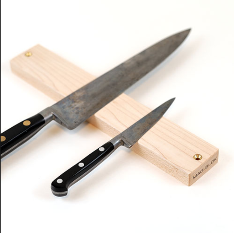 Mag-Blok Knife Rack - The chef-approved way to store your knives. This one comes recommended from Wirecutter.