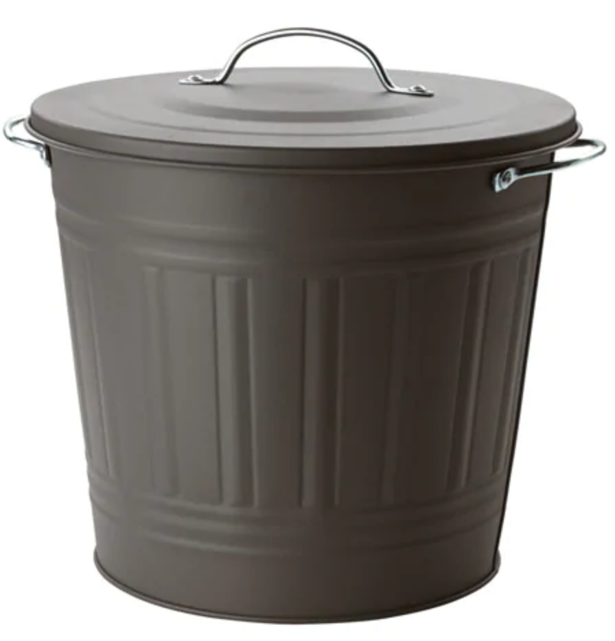 KNODD Trash Bin - I've used this trash can for years. It fits under my sink and the small size ensures that the trash is emptied on the regular.