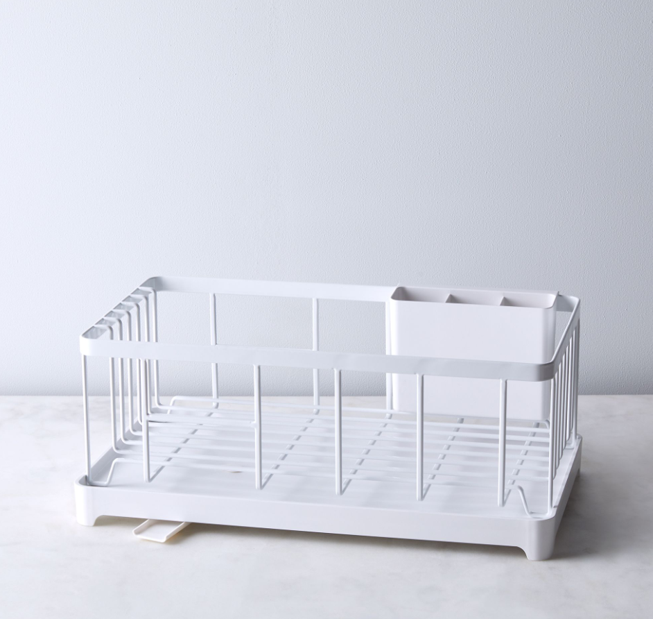 Yamazaki Home Dish Rack - I like the design, small footprint, and the draining spout on this guy. A nice choice for a small apartment.