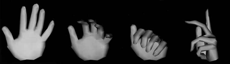 "Stills from ""Hand"" (1972) - Ed Catmull's pioneering computer animation"
