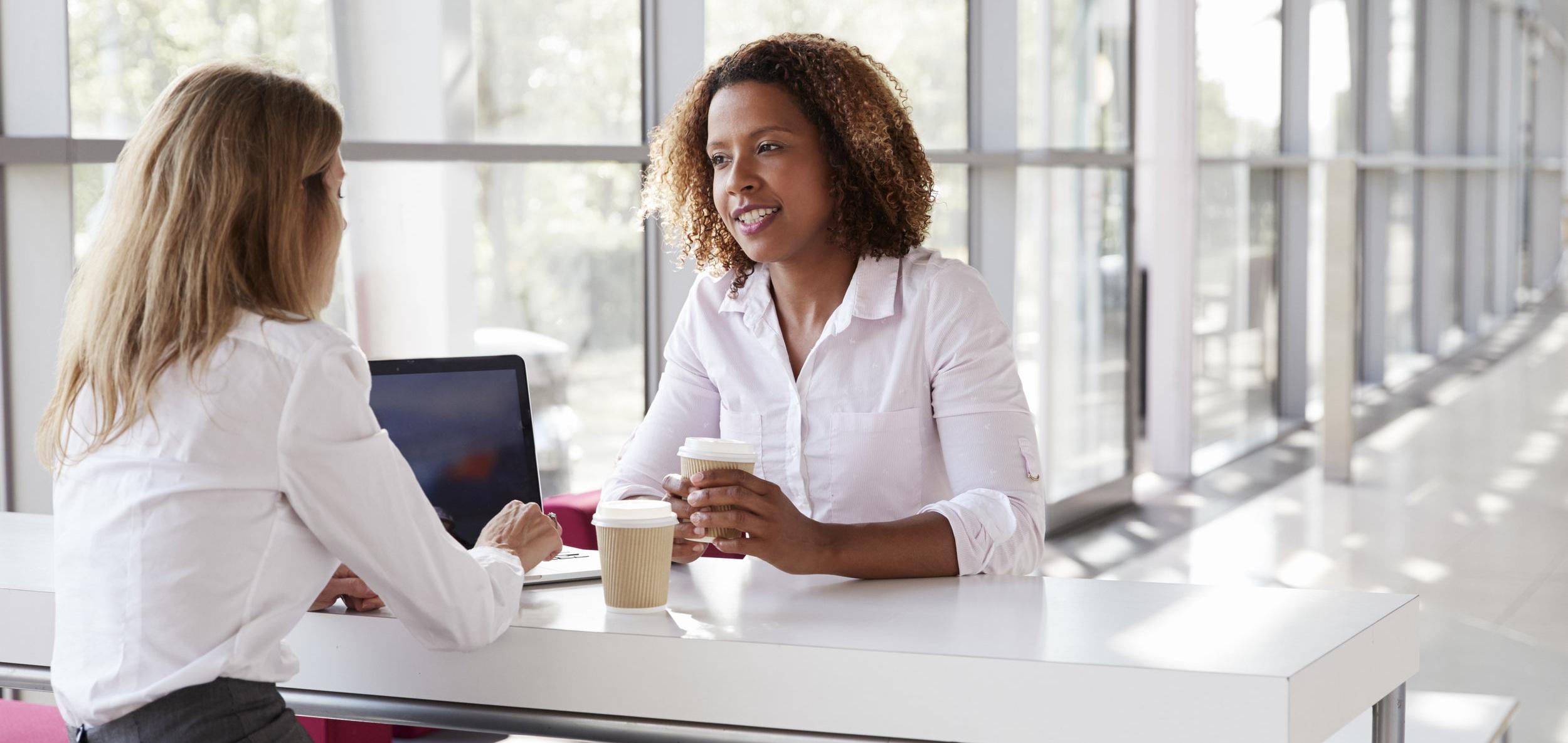 Women Talking Coffee